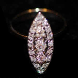 bague marquise 2 ors diamants brillants