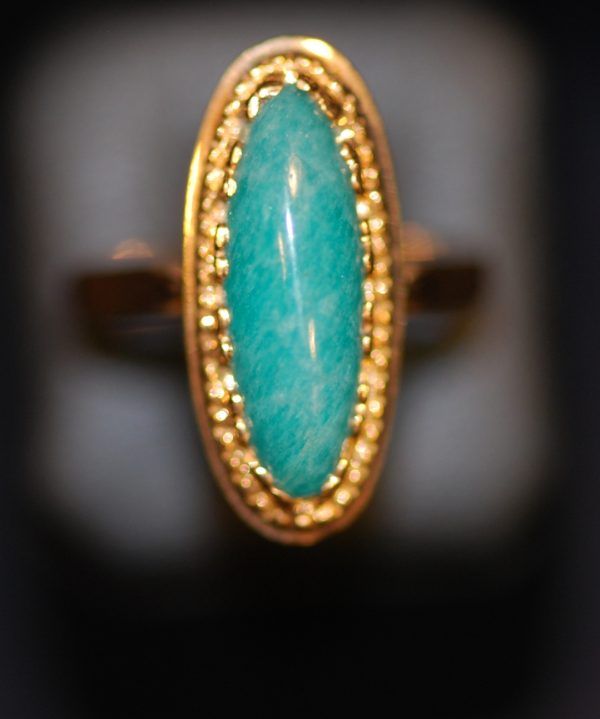bague marquise or jaune turquoise
