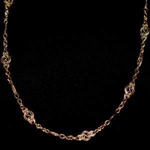 collier tout or maille filigrane epoque 1960